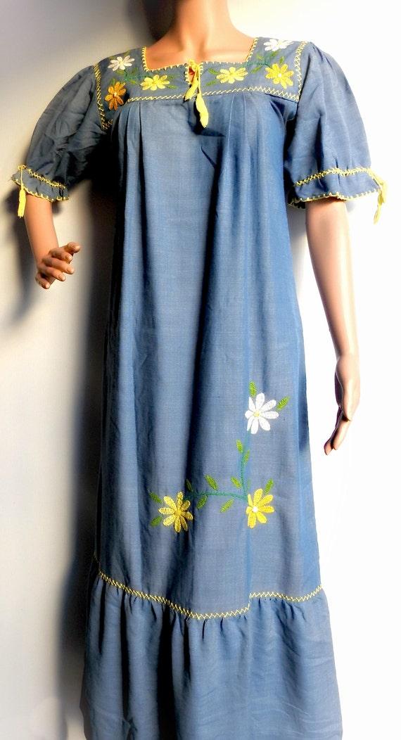 Frida Kahlo Clothing Style Mexican Maxi Dress Long Vestido