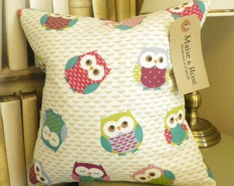 Fryette's Owl 12 x 12 inch Cushion Cover with Insert