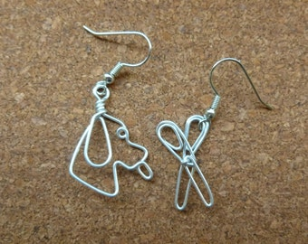 Dog  EARRINGS for GROOMER wire work