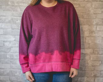XXL purple and pink bleached sweatshirt