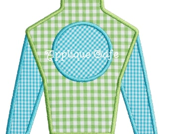 586 Jockey Silk Machine Embroidery Applique Design