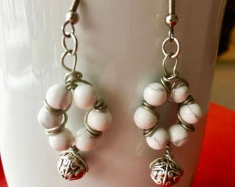 MARBLElous Wreath Earrings