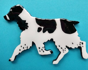 Springer Spaniel Pin, Magnet or Ornament -Color Choice -Free Shipping -Hand Painted