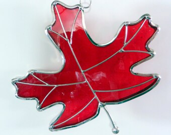 Stained Glass Maple Leaf Sun Catcher