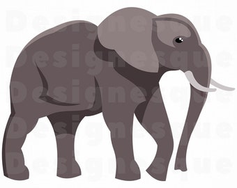 Elephant SVG, Elephant Clipart, Elephant Cut Files For Silhouette, Elephant Files for Cricut, Elephant Dxf, Elephant Png, Elephant Vector
