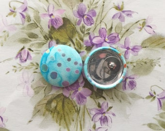 Batik Fabric Button Earrings / Wholesale Jewellry / Handmade Gifts / Hypoallergenic Stud Earrings / Hippy Print / Boutique Stock
