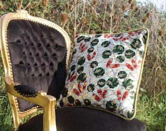 African Print Pillow - African Pillow - Ankara Decoration - African Decor - Gold Cushion - African Decorative Cushion - African Homewear