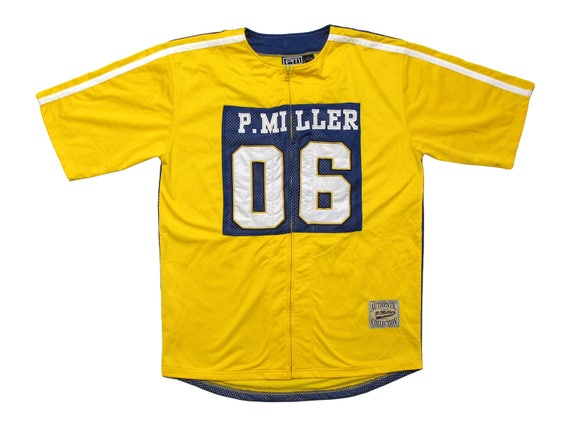 P. Miller Yellow & Blue Mesh Warm Up Jersey
