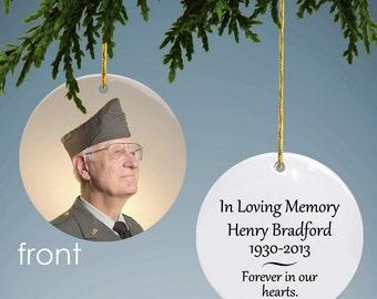 Personalized Memorial Photo Ornament