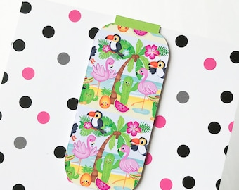 Summer Toucans One Magnetic Bookmark or Planner Page Finder, Page Minder. Toucan