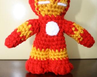 Iron Man Amigurumi Crochet Doll / Marvel / Superhero