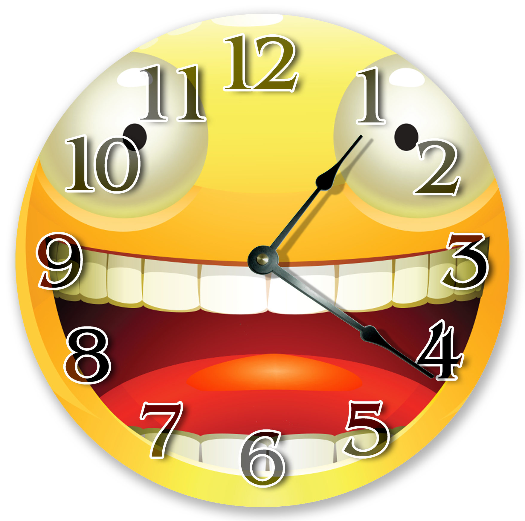 10.5 SMILING EMOJI With OPEN Mouth Clock Large