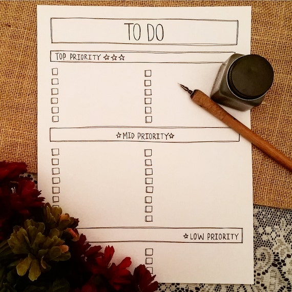 to do list printable printable priority list to do list by