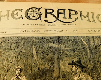 The GRAPHIC Magazine Newspaper September of 1883 Great Engravings History Historical Articles Engravings Ballmoral Ulster River Congo Africa