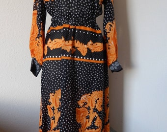 1970s Rodney designer maxi dress