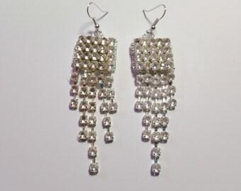 """Beaded Earrings """"Rhinestones"""""""
