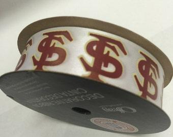 "7/8"" Florida State Seminoles Ribbon - FSU 9 foot spool - Offray"