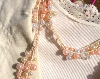 INSTANT DOWNLOAD Pearl Infinity Scarf Necklace Choker Crochet Pattern