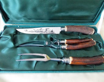 Vintage French Meat Carvery Tool Set