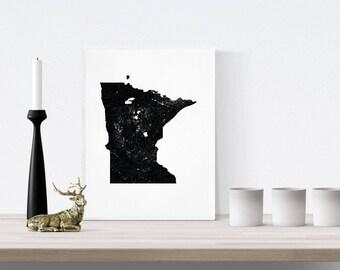 Minnesota art print,Wall Art Print,USA States,Gallery Wall Print,Usa Art Poster,America Print,Minnesota Poster,Minnesota art,usa Gift