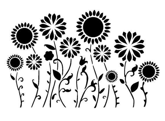 8.3/11.7 Flower Border Or Background Stencil. A4