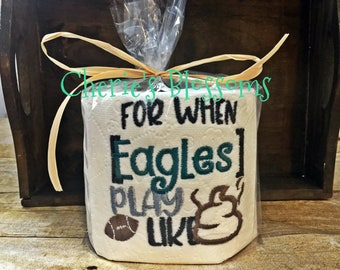Philadelphia Eagles Football Embroidered Decorative Toilet Paper *order by Tuesday for Sunday's game!*