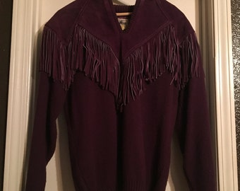 Vintage fringe sweater size large