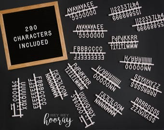 Hey Hey Hooray 10x10 Felt Letter Board with 290 3/4'' Characters Included