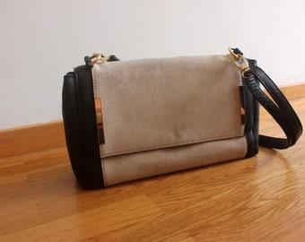 Leather/ suede purse