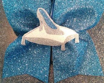 Glass slipper cheer bow