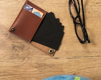 MONY * customizable leather card case