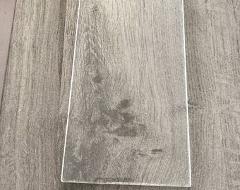 Acrylic block 9 transparent x15cm stamp (stamp) - support plate clear precise Application
