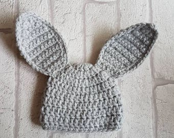 Baby boy easter hat etsy bunny hat easter hat easter bunny hat baby bunny hat baby knits baby crochet easter gift negle Image collections