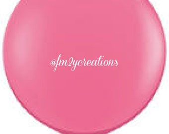 "36"" Round Pink Balloon 