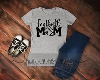 Football mom life  Tshirt,  Football Mom Shirt, Love Football Tshirt, Womens Sports shirt, Football Spirit Shirt