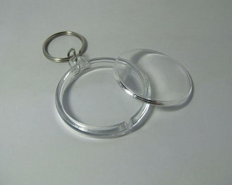 Lot of 3 acrylic clear keychains!! New!