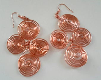 Copper Spiral  Earrings by Sofia Lemonis