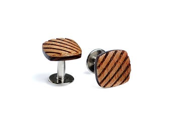 Wooden cufflinks for men Su