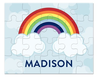 Rainbow Puzzle - Personalized Puzzle for Kids - Jigsaw Puzzle - Children Puzzles - Personalized Name Puzzle - 8 x 10 puzzle, 20 pieces