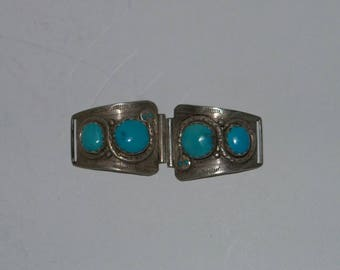 Zuni Effie C  snake Silver & Turquoise watch band  Look !!