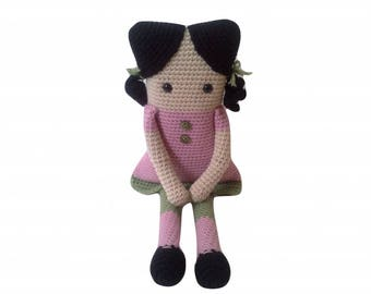 Square Crochet Doll, Amigurumi Crochet Doll, Rag Doll, Doll Amigurumi