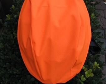 Safety  Bright Orange Bicycle Helmet Cover Waterproof
