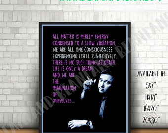 BILL HICKS Poster - We Are All One Consciousness - Hicks Quote Poster - Word Art Print -  11x14 / 16x20 / 20x30