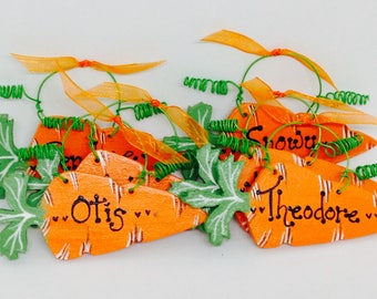 Personalised Pet Rabbit Hutch Name Plaque, Handmade Home Sign, Hanging Carrot, Gift.