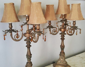 Buffet Lamps Etsy