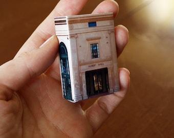 Matchbox Building: Matchbox Miniature of Albert Hall, Canberra, Australia.