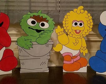 1 ONE 2ft Baby Sesame Street Cutout Standee Prop Choose Any Character