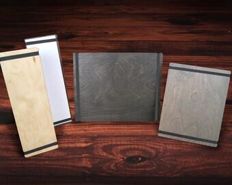 Bandview™ Wood Menu Holders. 25-Pack