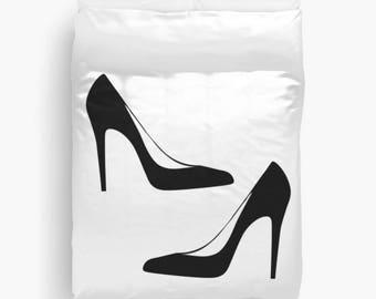 Fashion Decor, Teen Duvet Cover, Girls Bedroom Decor, Dorm Decor, Teen Room Decor, Girls Bedding, Black and White Duvet Cover, Gifts for Her