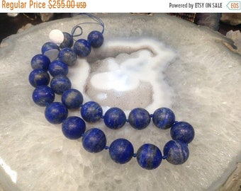 50% Mega Sale 17mm Matte Lapis Round Gemstone Beads